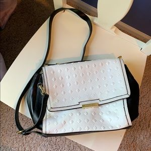 Black and white Vince Camuto crossbody